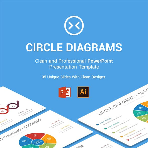 Circle Diagrams PowerPoint, Illustrator Template