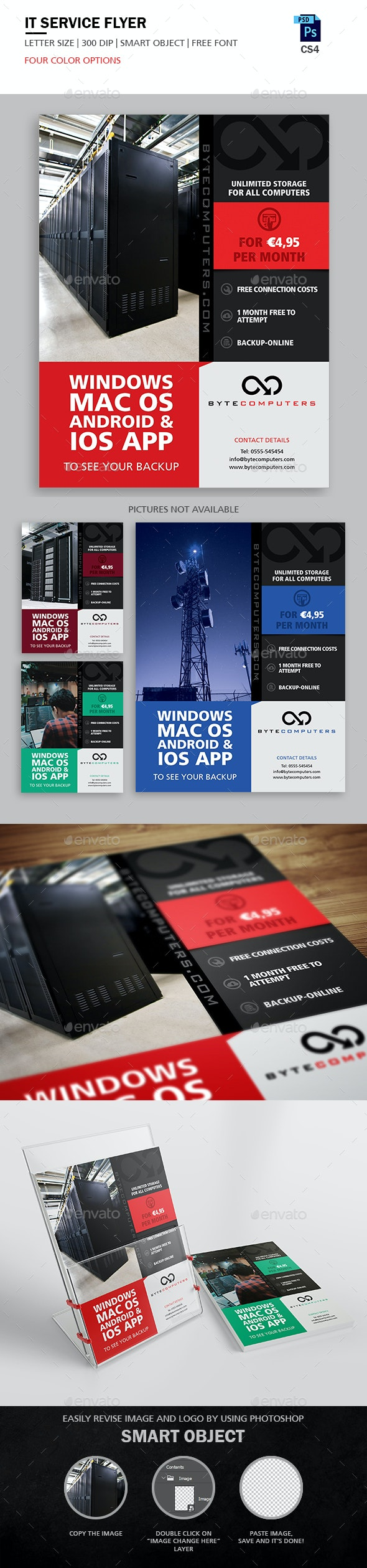 IT Service Flyer - Flyers Print Templates
