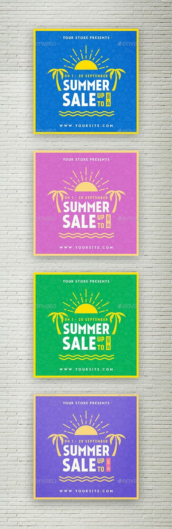 Summer Sale - Social Media banner - Social Media Web Elements