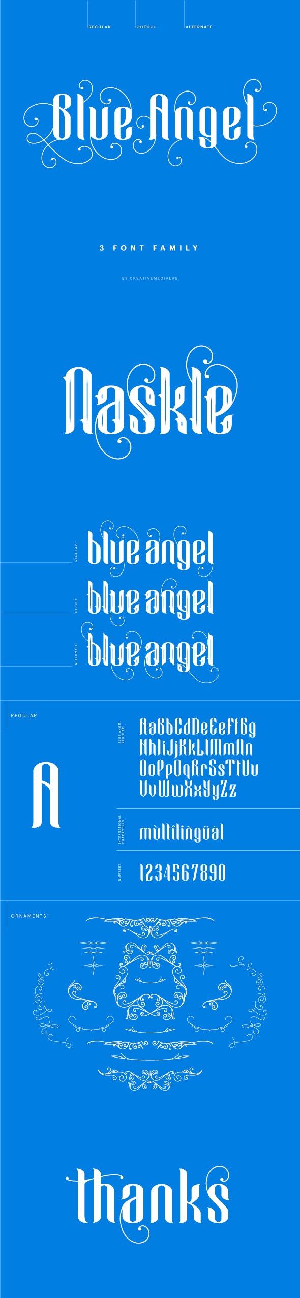 Blue Angel - Decorative Fonts