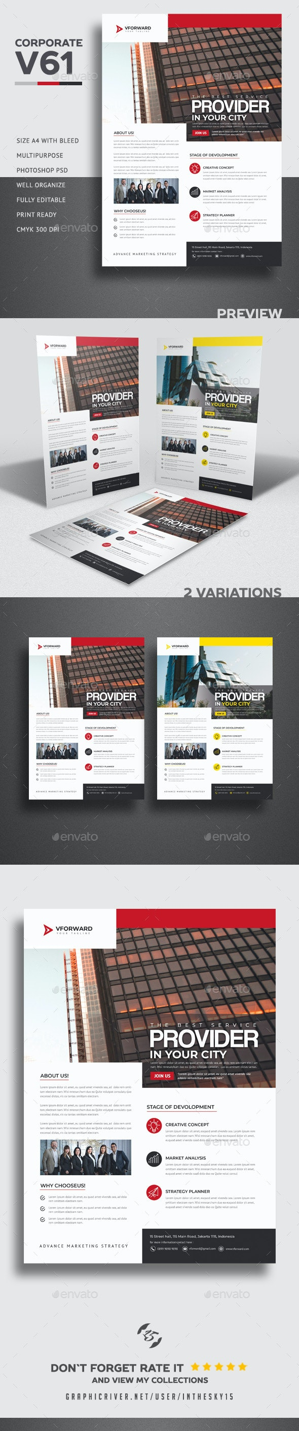 Corporate V61 Flyer - Corporate Flyers