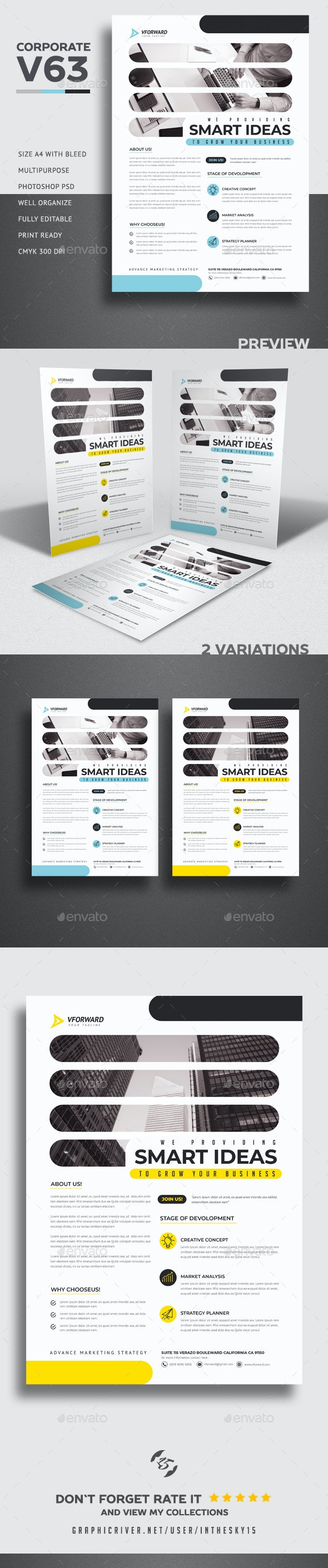 Corporate V63 Flyer - Corporate Flyers