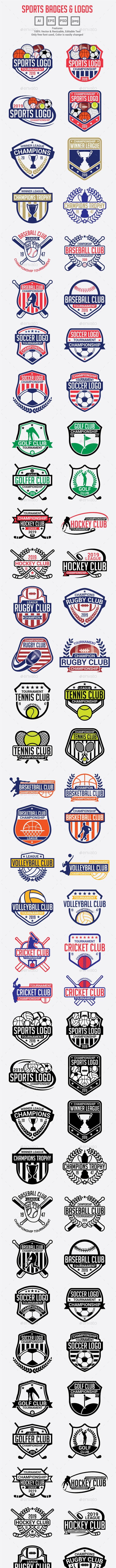 Sports Logo Badges - Badges & Stickers Web Elements