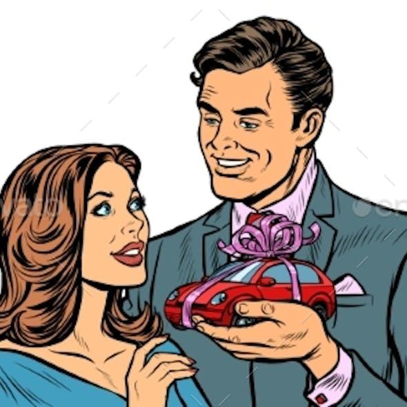 Man and Woman Car Gift