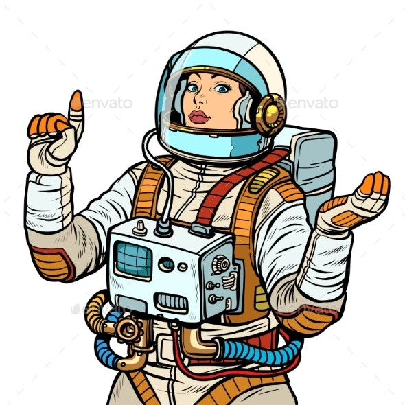 Woman Astronaut - People Characters