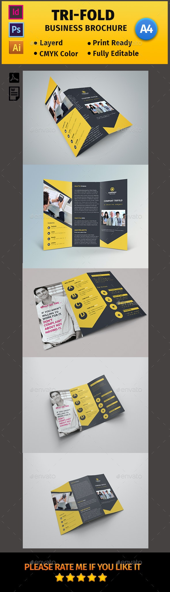 Corporate Business Tri-fold Brochure #06 - Corporate Flyers