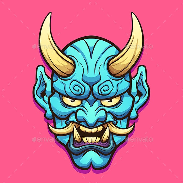 Japanese Demon Mask - Miscellaneous Characters