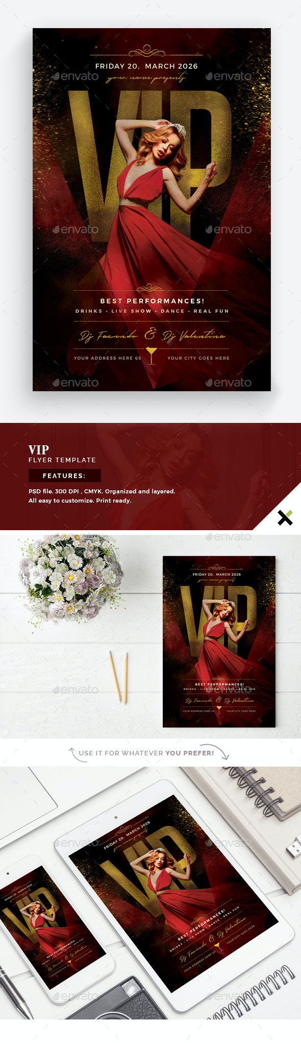 VIP Flyer Template - Clubs & Parties Events