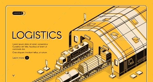 Warehouse Logistics, Railway Wood Global Shipping - Industries Business
