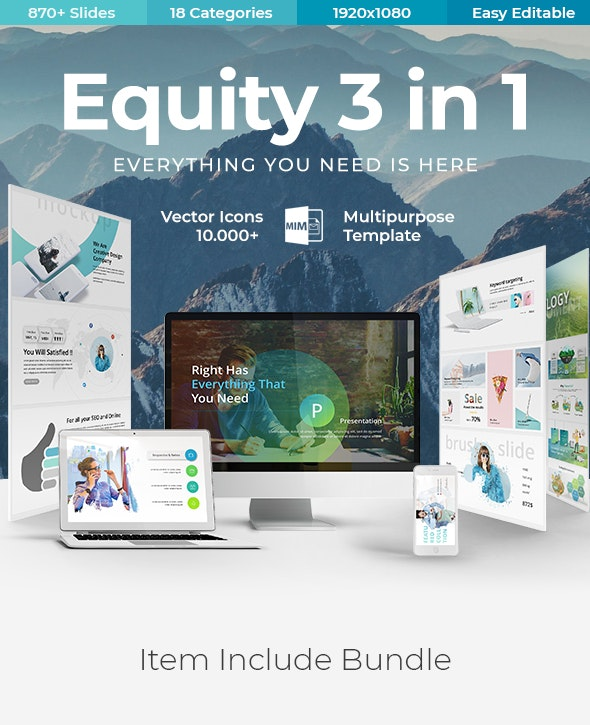 Equity 3 In 1 Creative Modern Powerpoint Template By