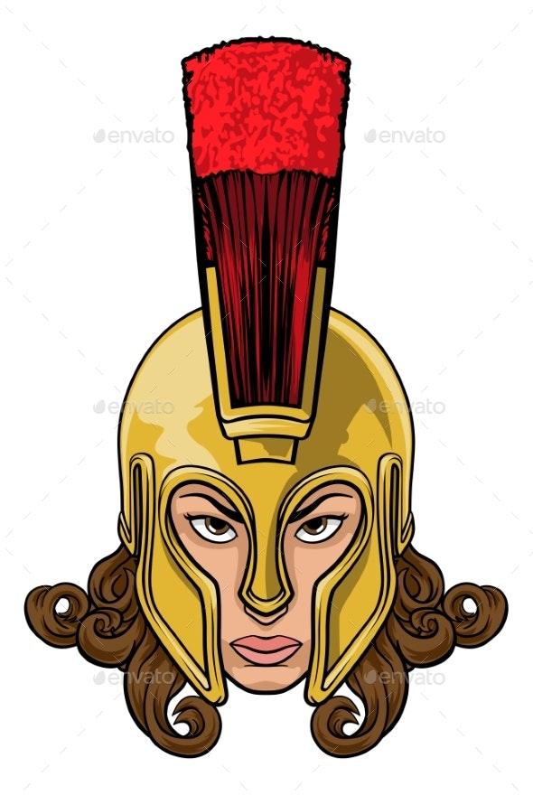 Spartan Trojan Athena Britannia Woman Warrior - People Characters