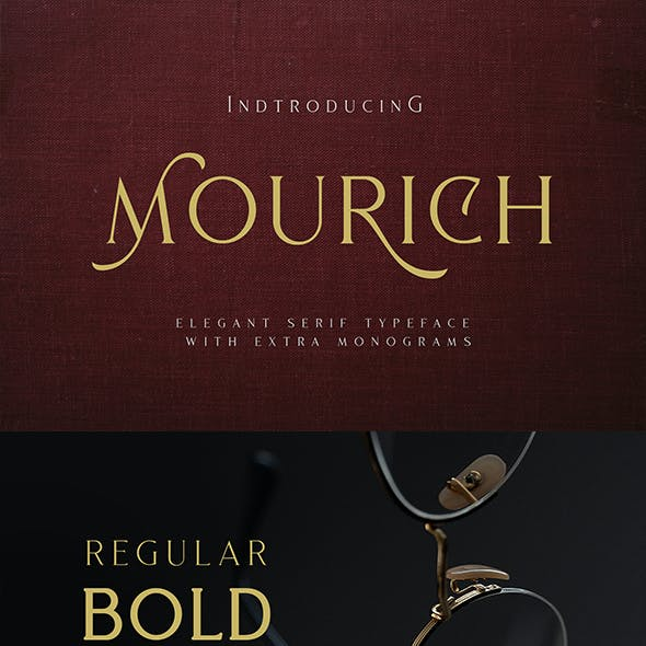 Mourich Elegant Font | With Extra