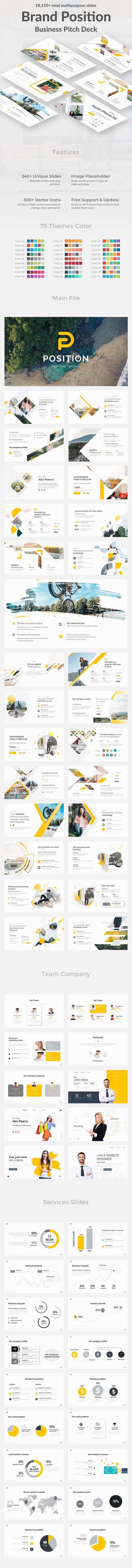 Brand Position Pitch Deck Powerpoint Template - Creative PowerPoint Templates