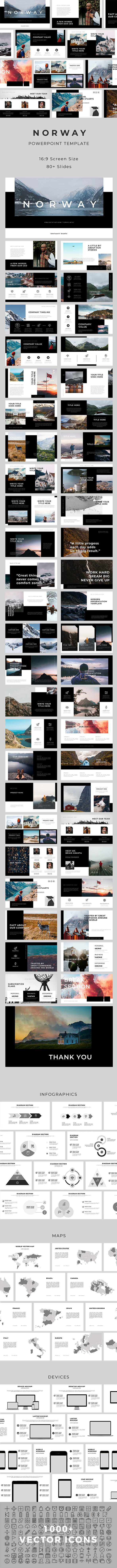 Norway PowerPoint Template - Creative PowerPoint Templates