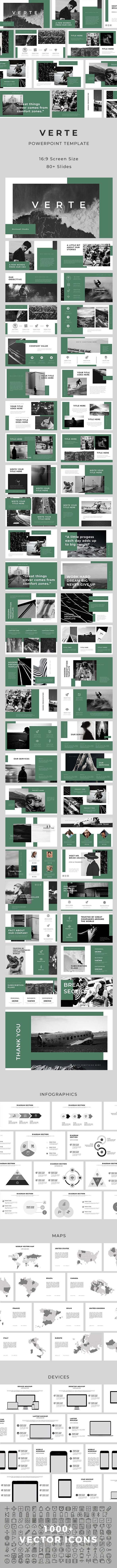 Verte PowerPoint Template - Creative PowerPoint Templates