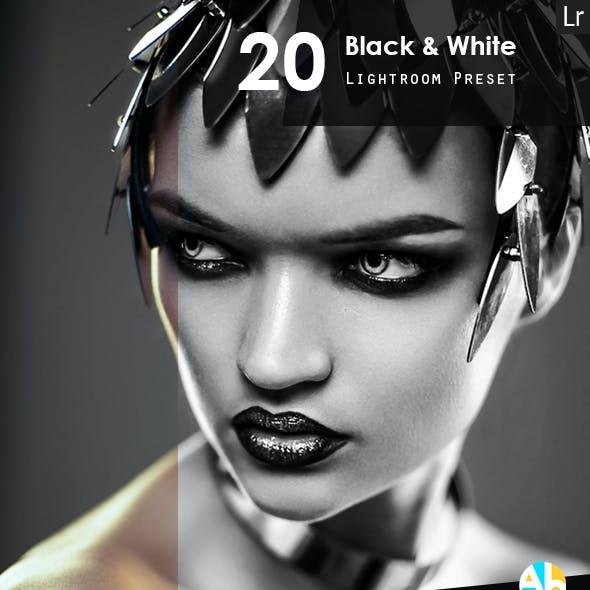 20 HDR Black & White Presets
