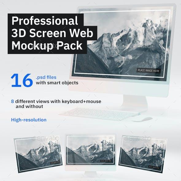 3D Screen Web Mockup Pack