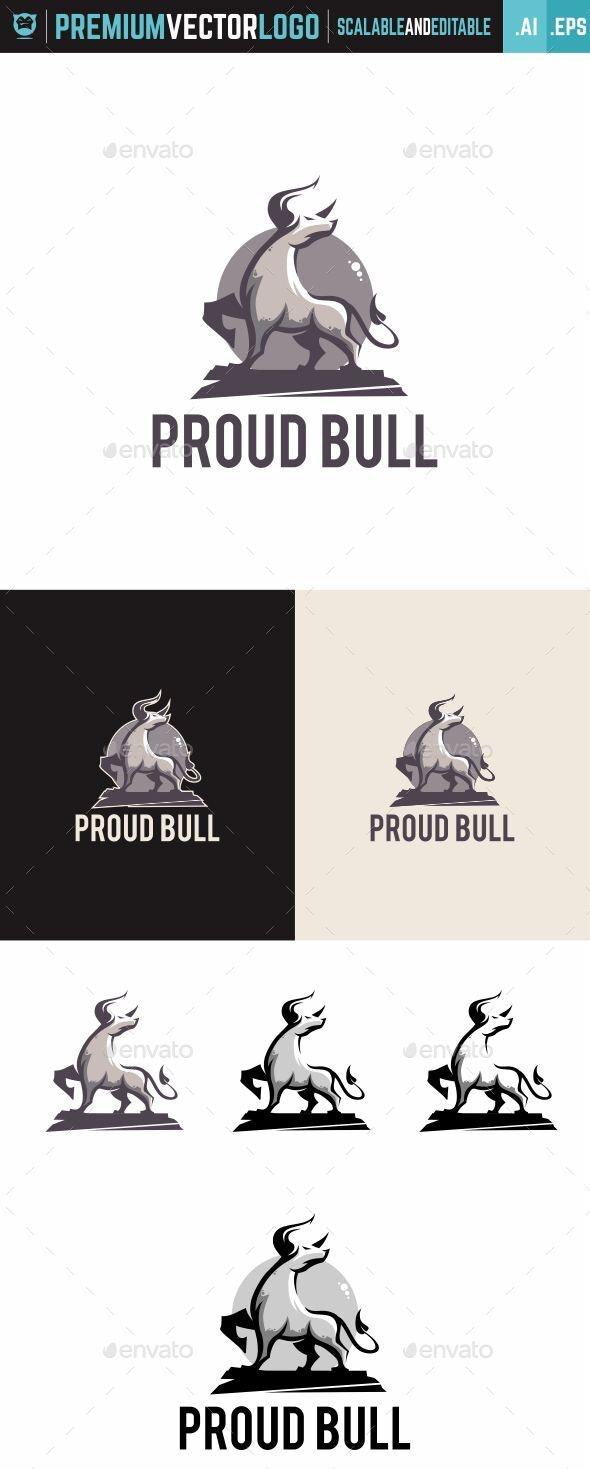 Proud Bull Logo - Animals Logo Templates