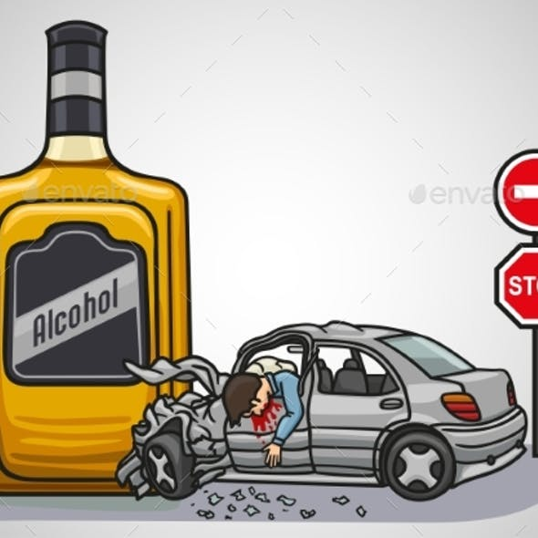 A Drunk Driver Risks To Get Into a Car Accident