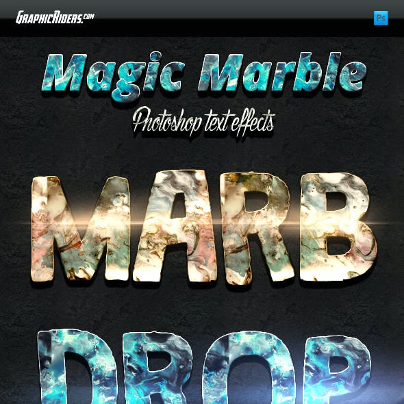 Magic Marble Style Photoshop Text Effects