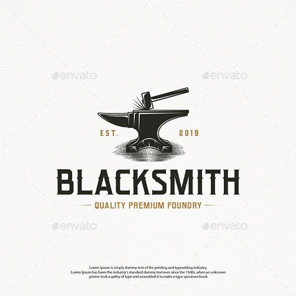 Blacksmith Foundry Logo Template