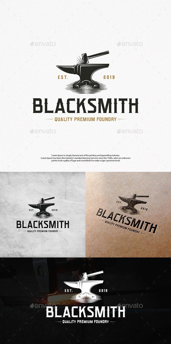 Blacksmith Foundry Logo Template - Crests Logo Templates