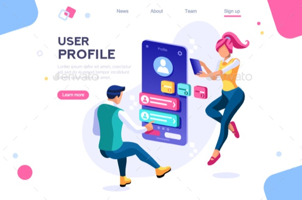 Client Profile Customer Concept - Concepts Business