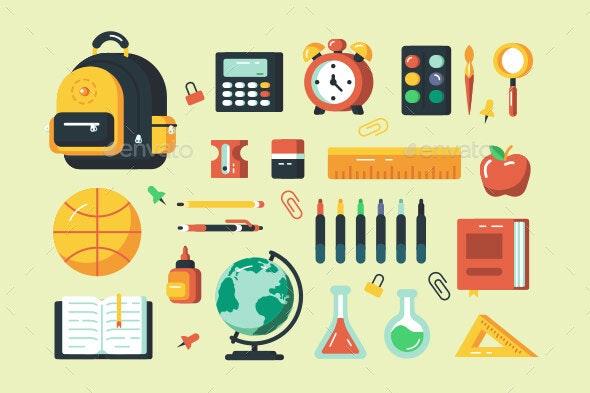 Set of School Supplies - Miscellaneous Vectors