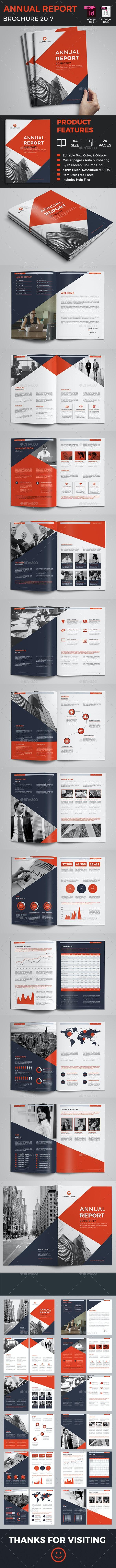 Annual Report - Magazines Print Templates