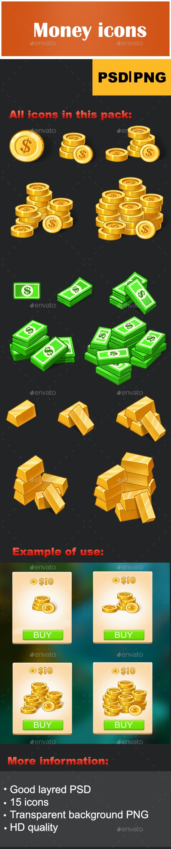 Money Game Icons - Miscellaneous Game Assets