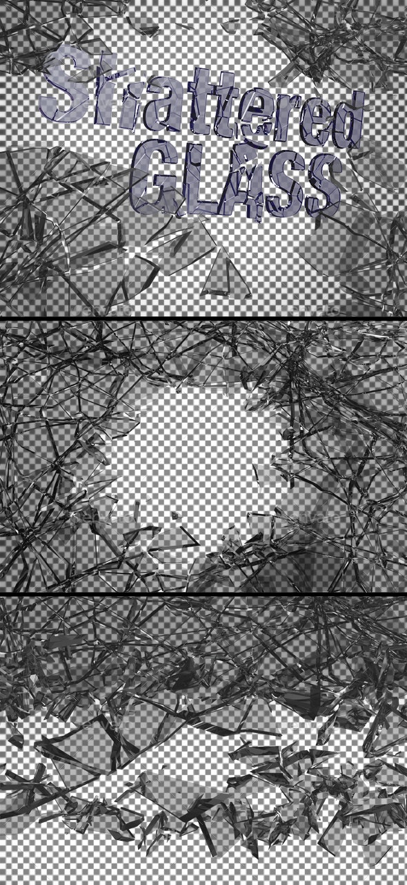 Ten Shattered Glass Overlays - Miscellaneous 3D Renders