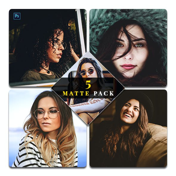 5 Matte Pack Photoshop Actions