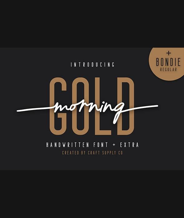 Morning Gold - Handwritten Font - Script Fonts
