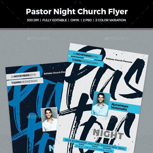 Pastor Night Church Flyer