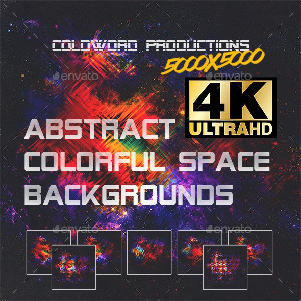 Abstract Backgrounds and Textures 4K - Colorful Galaxy Space V1 - Abstract Backgrounds