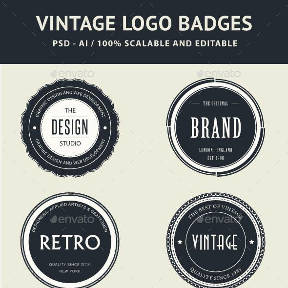 64 Vintage Logo Badges Bundle