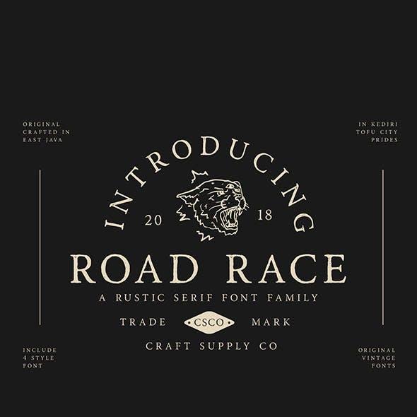 Road Race Font Family