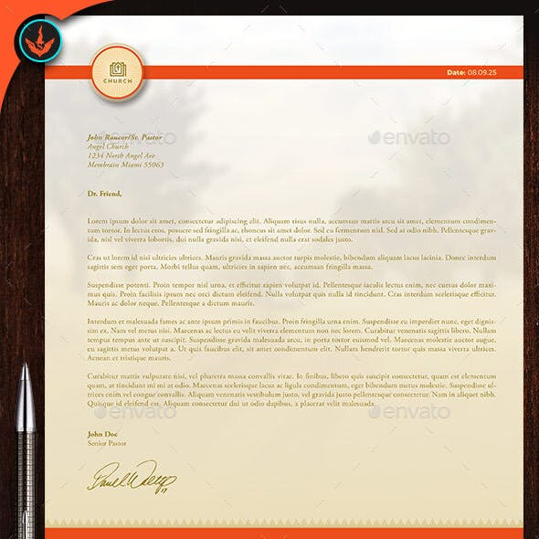 Church Letterhead Template 2