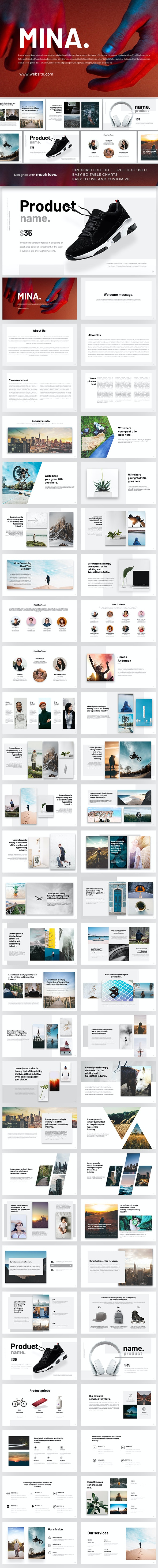 Mina Powerpoint Presentation Template by Azad_Sultanov