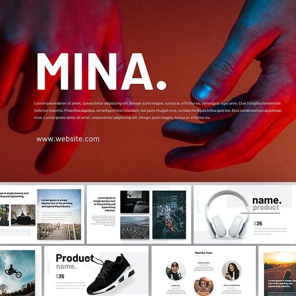 Mina Powerpoint Presentation Template