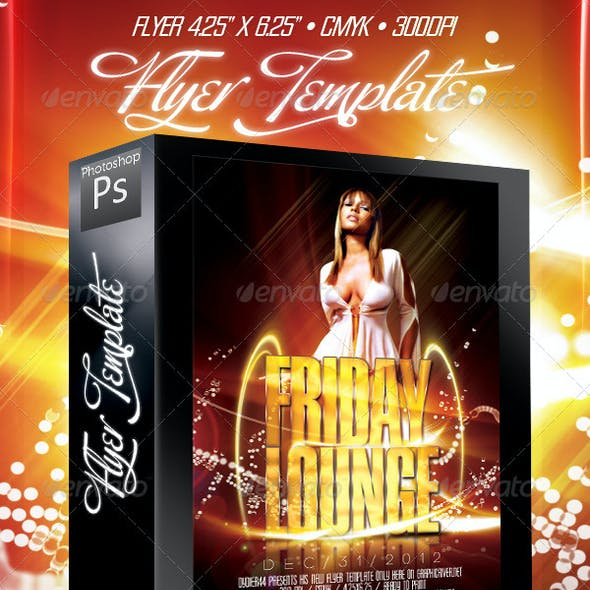 Friday Lounge (Flyer Template 4x6)