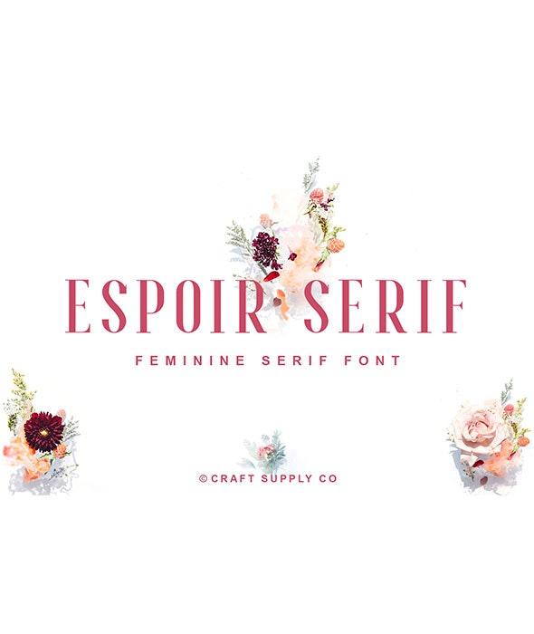 Espoir Serif - Font Family - Serif Fonts