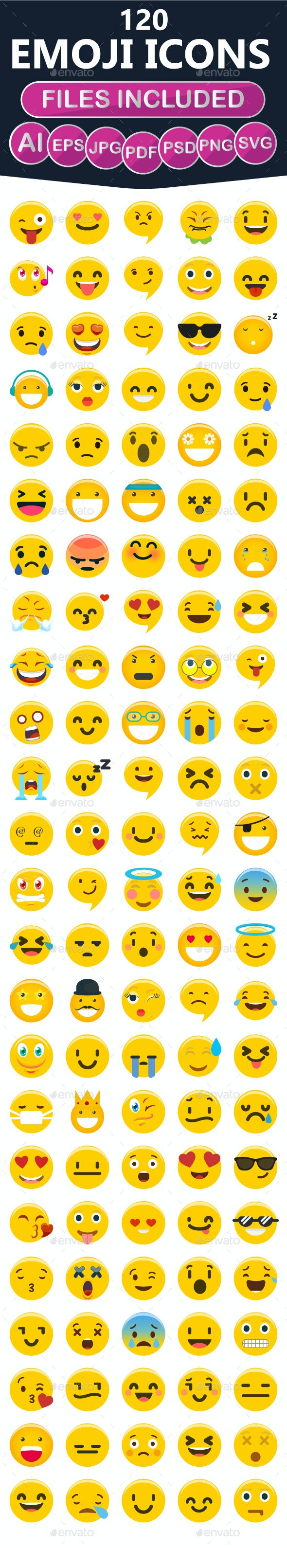 Expressions Emoticon Set - Icons