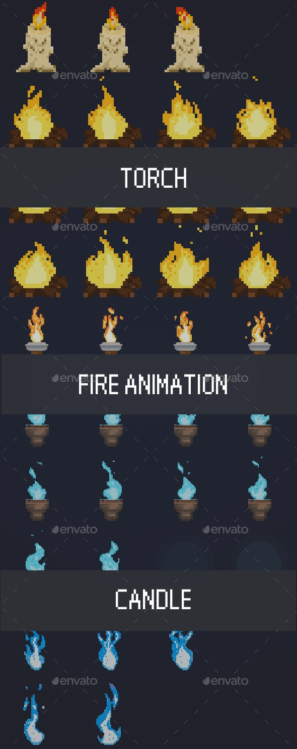 Fire Set - Sprites Game Assets