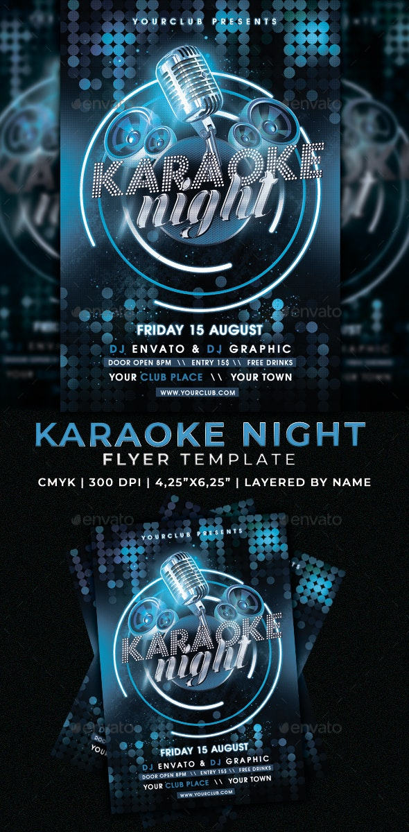 Karaoke Night Flyer - Clubs & Parties Events