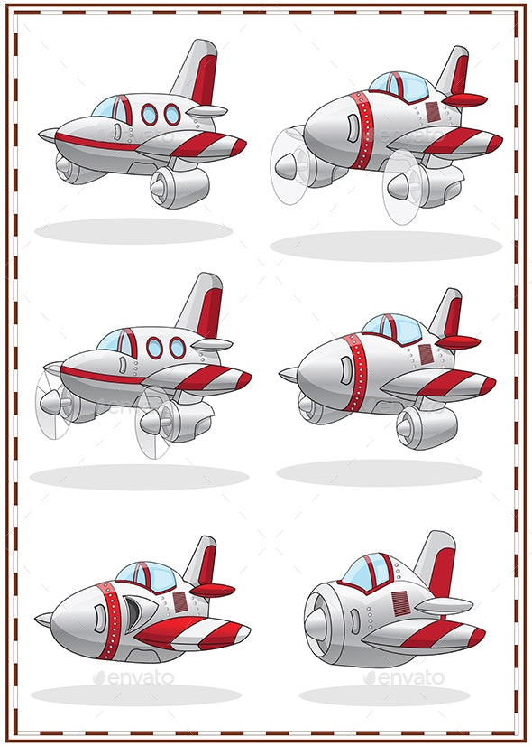Set of Aircrafts - Man-made Objects Objects