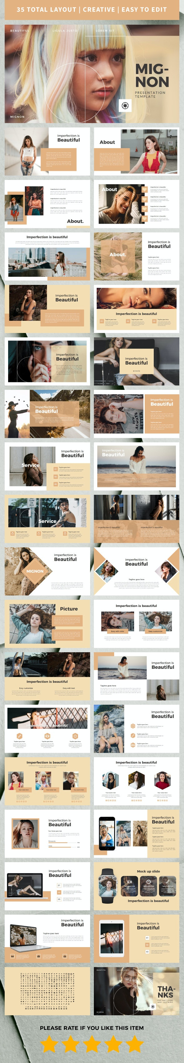 Mignon Keynote Temp - Creative Keynote Templates