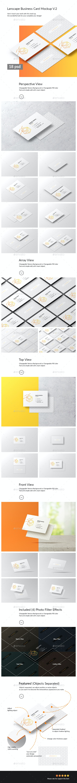 Lanscape Business Card Mockup - Business Cards Print