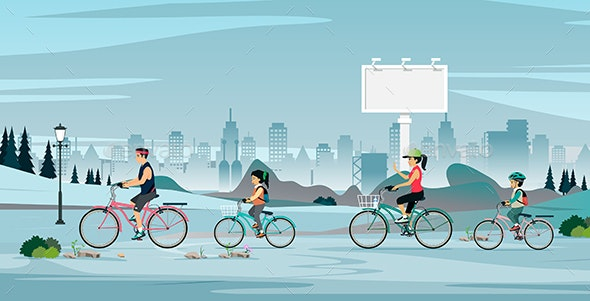 Family Bike - Sports/Activity Conceptual
