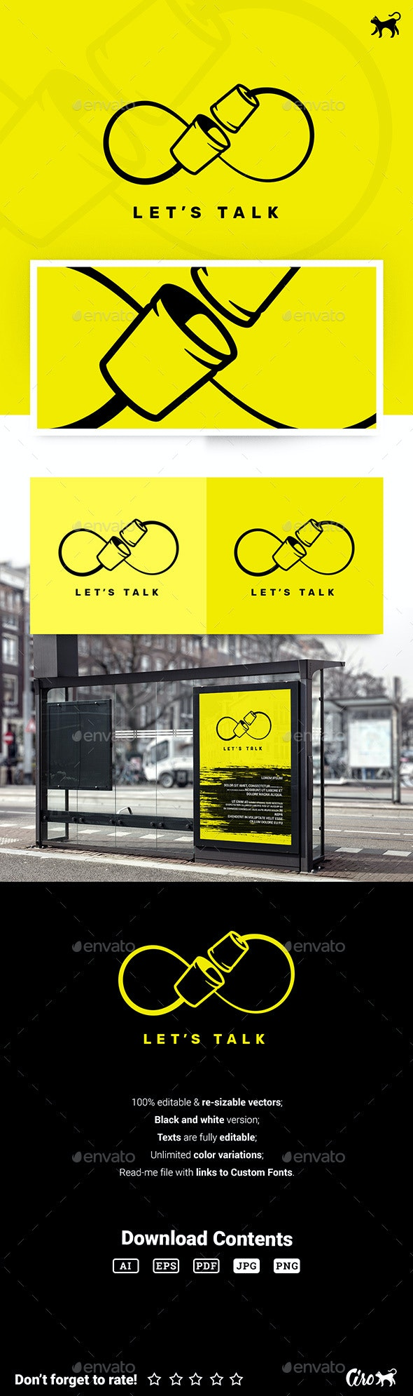 Lets Talk Logo - Objects Logo Templates